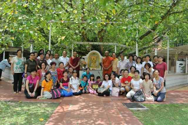 Group picture under the shade of the Bodhi Tree,
