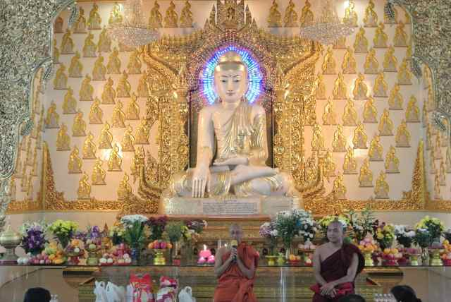11-feet image of Buddha sculptured out of a 10 tons marble block from Sagyin Hill.
