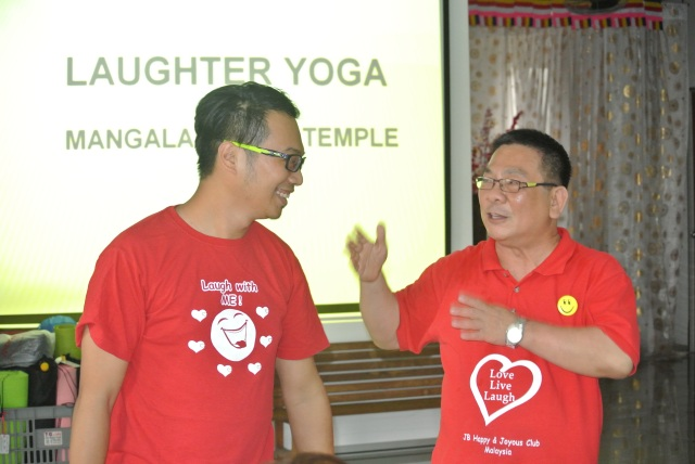 Two laughing jackasses - Brother Steven Phua & Brother TC Lim