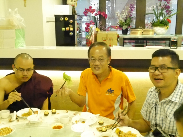 … … and our special guest Brother Min Po on the right.