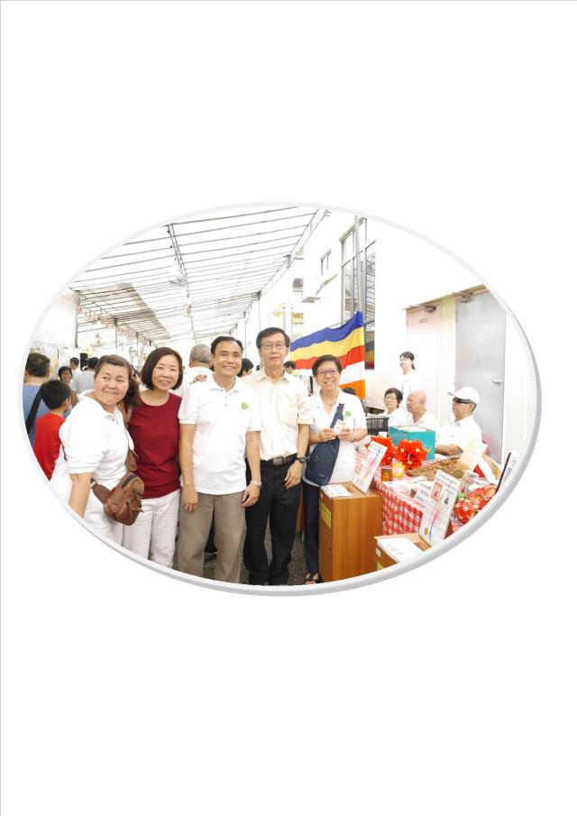 Volunteers at donation booth