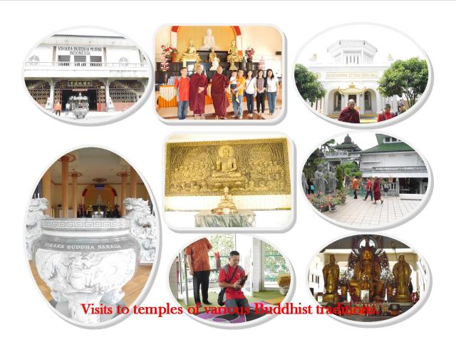 Buddhist temples of various traditions