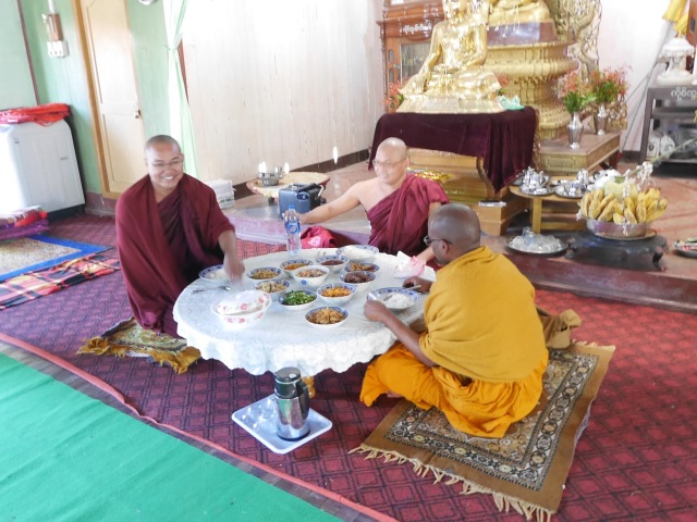 Lunch offering to the monks …