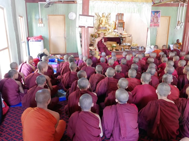 Attentive ears to Dhamma talk by Bhante Cakkapala.