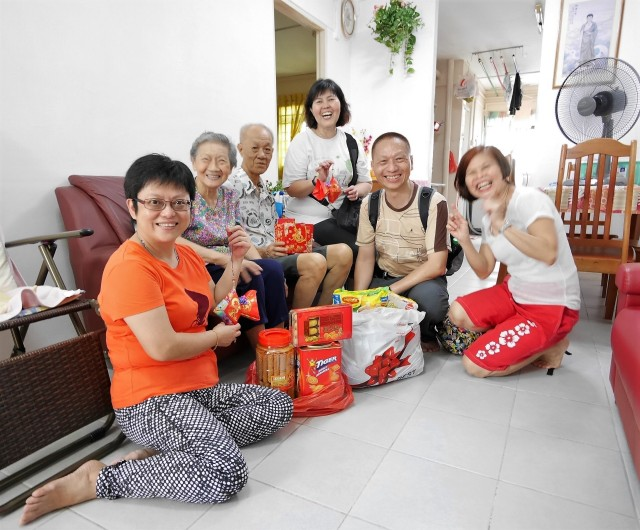 … every family also receives a food hamper … …