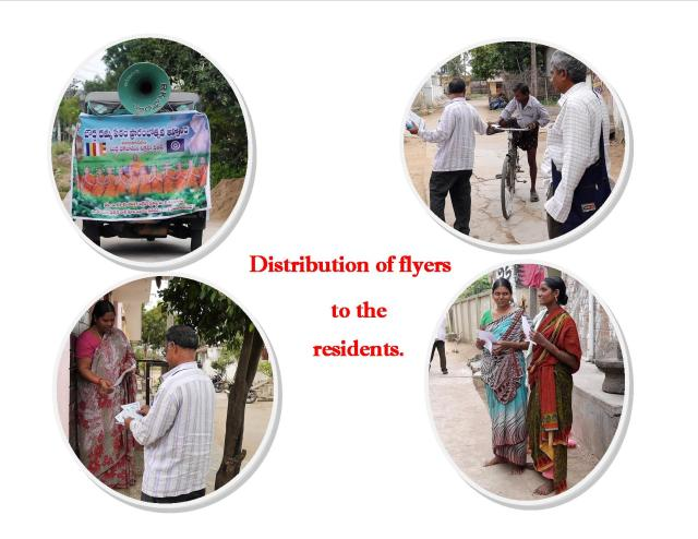 Distribution of flyers