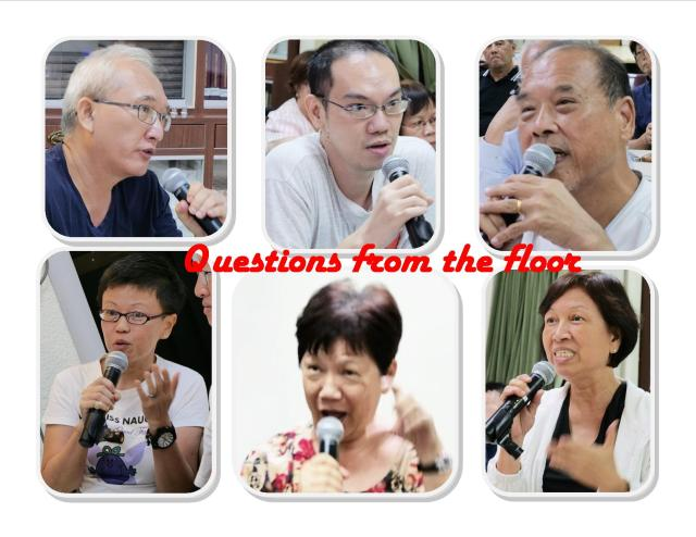 Questions from the floor